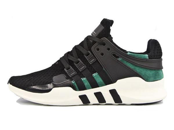 Adidas Equipment Running Support 93 черные с зеленым (40-45)