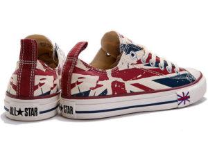 Кеды Converse Chuck Taylor All Star с британским флагом - фото сзади