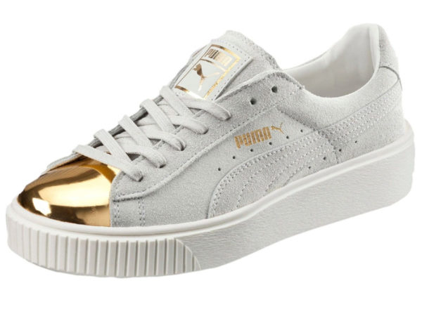 Кроссовки Puma by Rihanna Creeper женские белые с золотым