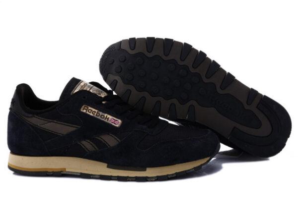 Кроссовки Reebok Classic мужские черные с серым