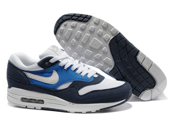 Кроссовки Nike Air Max 87 темно-синие с белым мужские