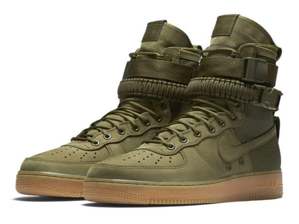 Кроссовки Nike Air Force 1 Special Field зеленые мужские