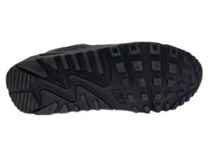 Зимние Nike Air Max 90 VT Low Leather Fur черные - фото подошвы