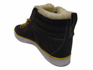 Зимние Adidas Ransom коричневые - фото сзади