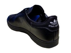 Adidas Stan Smith Leather черные - фото сзади