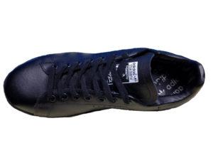 Adidas Stan Smith Leather черные - фото сверху