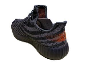 Adidas Yeezy Boost 350 серые с оранжевым