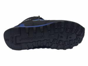 Зимние New Balance 1300 Mid черные с синим - фото подошвы