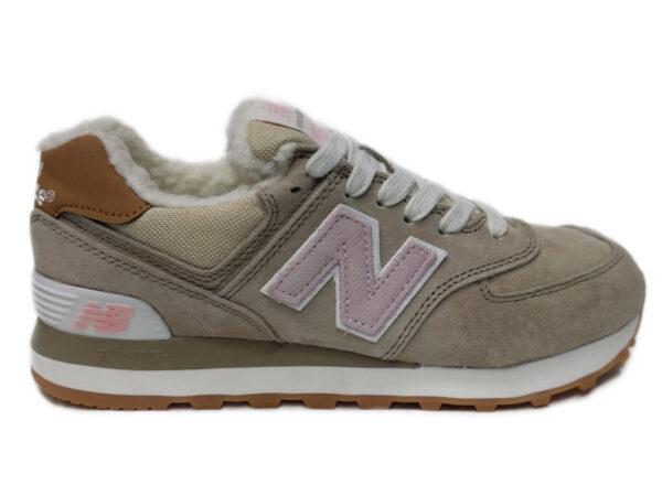 Бежевые кроссовки New Balance