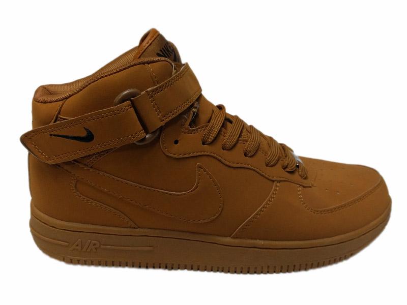 Зимние Nike Air Force 1 Nubuck песочные