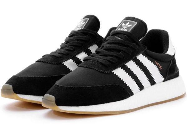 Adidas Iniki Runner Boost черные с белым (40-45)