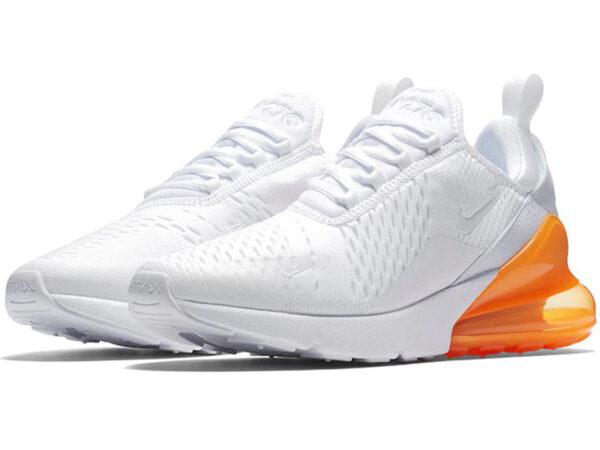 Nike Air Max 270 белые с оранжевым (35-40)
