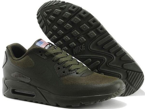 Nike Air Max 90 Hyperfuse темно-зеленые (35-45)