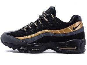 Nike Air Max 95 черные с золотым
