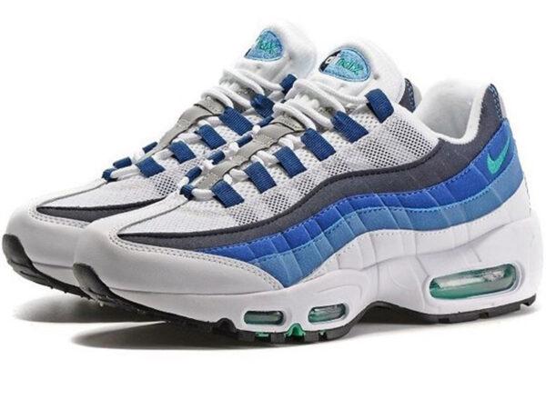 Nike Air Max 95 белые с синим (35-45)