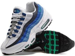 Nike Air Max 95 белые с синим
