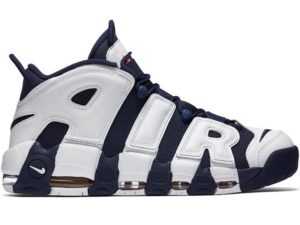 Nike Air More Uptempo синие с белым