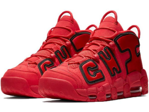 Nike Air More Uptempo Chicago Bulls красные с черным (40-46)
