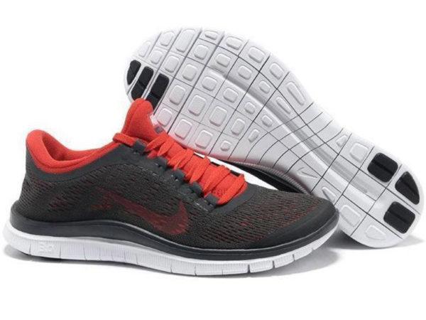 Nike Free Run 3.0 v5 черные с красным (35-40)