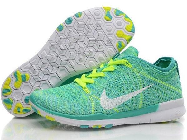 Nike Free Run Flyknit 5.0 зеленые (35-40)
