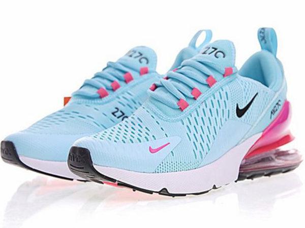 Nike Air Max 270 голубые с розовым