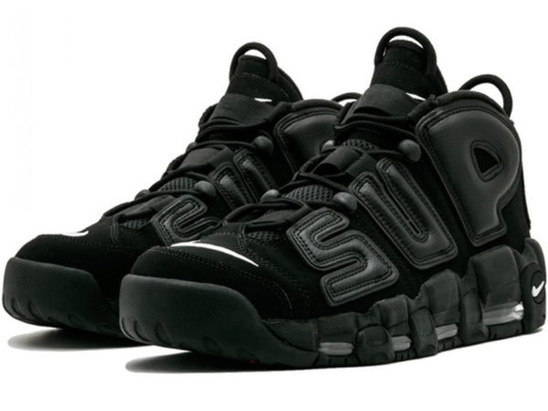 Nike Air More Uptempo X Supreme черные