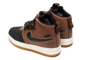 Зимние Nike Air Force 1 с МЕХОМ Lunar Duckboot коричневые (35-45)