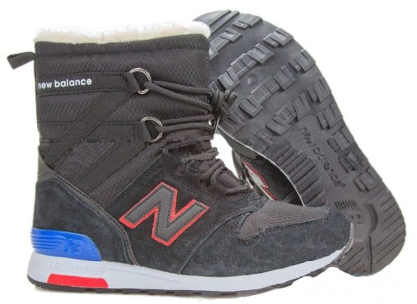 Сапоги New Balance Snow Boots черные с красным 36-40