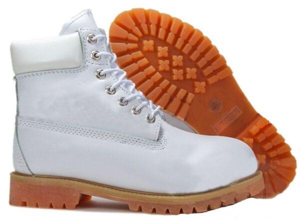 Ботинки Timberland с мехом 6 Inch Premium белые 36-41