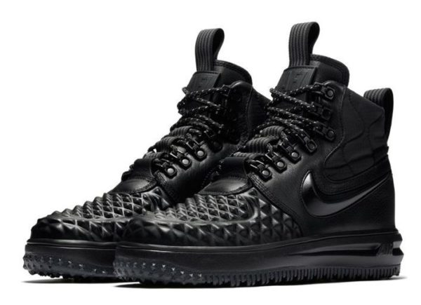 Зимние Nike Air Force 1 с МЕХОМ Lunar Duckboot черные (35-40)