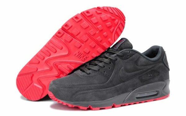 Зимние Nike Air Max 90 VT с мехом серые (35-44)