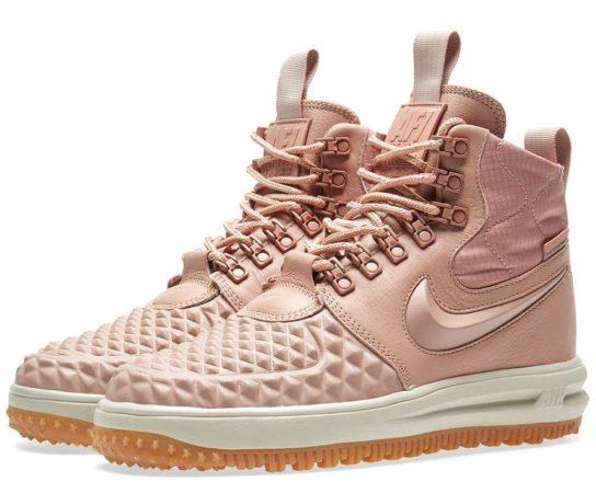 Зимние Nike Air Force 1 с МЕХОМ Lunar Duckboot розовые (35-40)