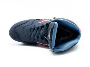 New Balance 1300 нубук с натуральным мехом темно-синие (35-45)