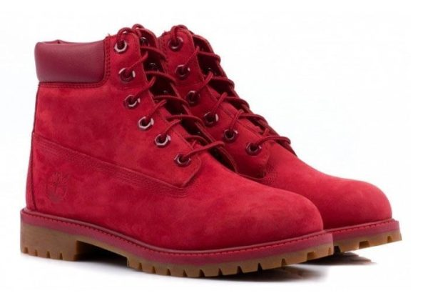 Малиновые ботинки Timberland