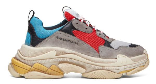 Balenciaga Triple S grey/red/blue женские мужские (35-44)