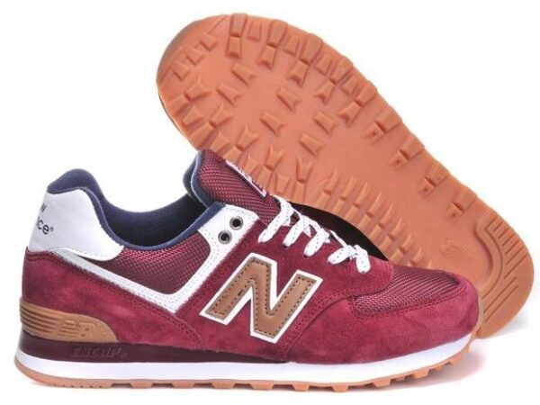New Balance 574 dark red бордовые (35-45)