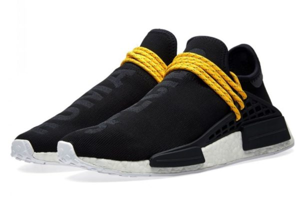 Кроссовки Adidas NMD Human Race черные с желтым (40-44)