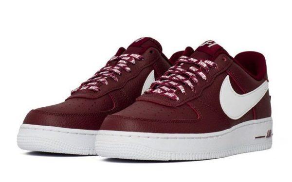 Nike Air Force 1 LV8 NBA бордовые (40-45)