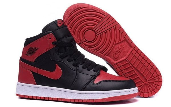 Nike Air Jordan 1 Retro (Black/Red) Черно-красные 41-44