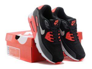Nike Air Max 90 черные с красным (35-45)