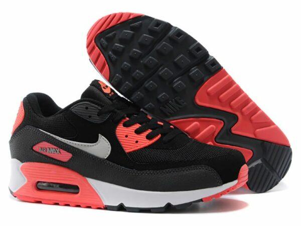 Nike Air Max 90 черные с красным (35-39)