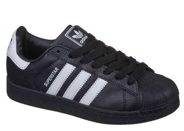 Adidas Superstar черные с белым black white (35-45). Адидас Суперстар