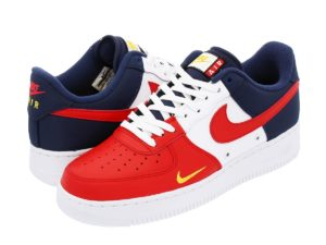 Кроссовки Nike Air Force красно-бело-синие (40-44)