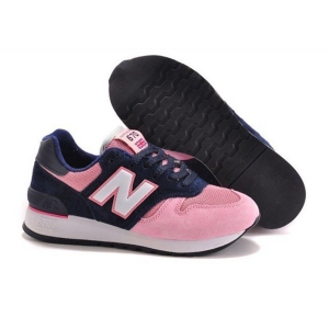 Кроссовки New Balance 670 замша-сетка розовый с синим (35-39)