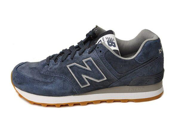 New Balance 574 замша темно-синие (40-45)