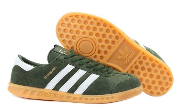 Adidas Hamburg темно-зеленые с белым (39-44)