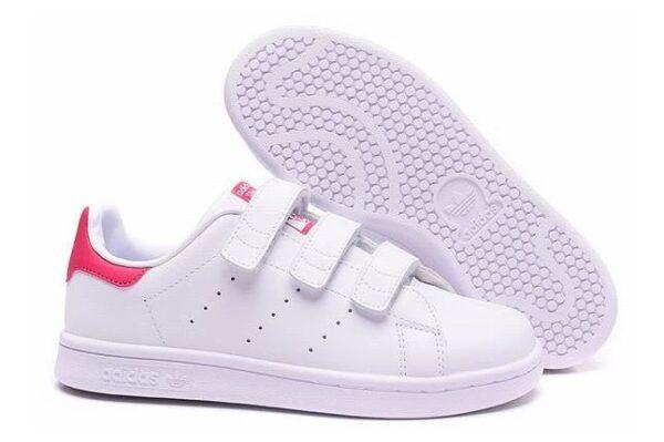 Adidas Stan Smith CF белые с розовым (35-39)