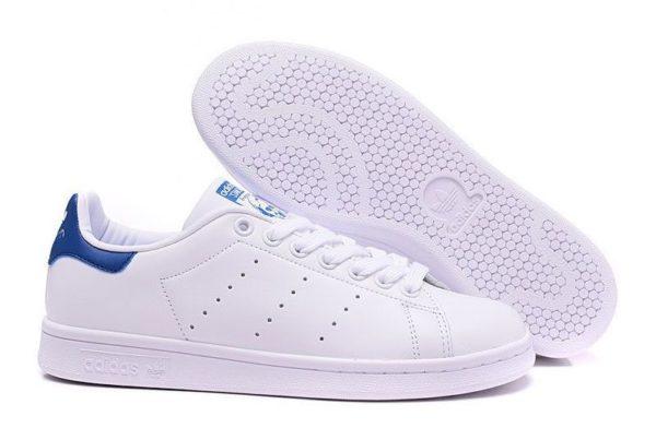 Adidas Stan Smith белые с синим (35-44)