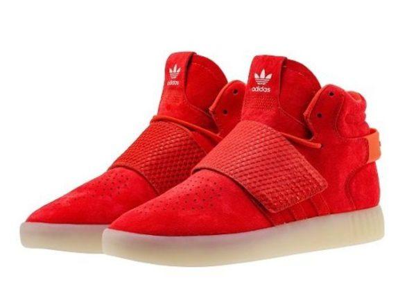 Adidas Tubular Invader Strap красные (40-44)