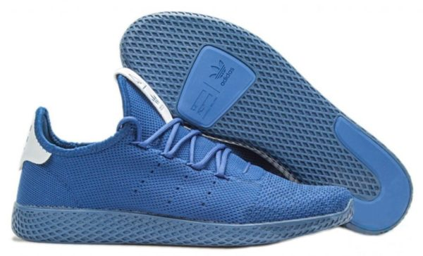 Adidas x Pharrell Williams Tennis Hu синие с белым (40-44)